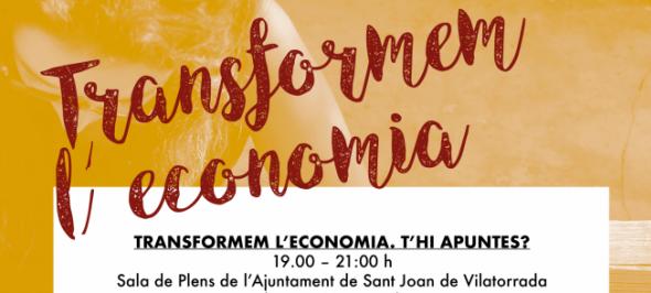 """Ponents de primer nivell al curs gratuït """"Transformem l'economia"""" de l'Ateneu Cooperatiu de la Catalunya Central"""